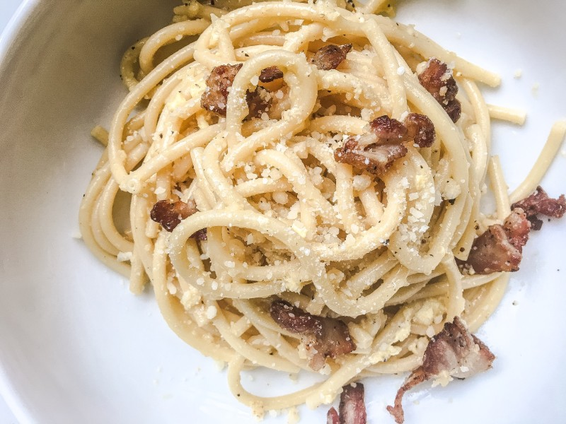 Bucatini Carbonara with Pancetta