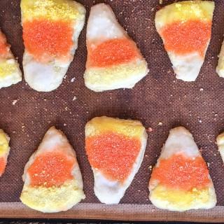 Candy Corn Butter Sugar Cookies