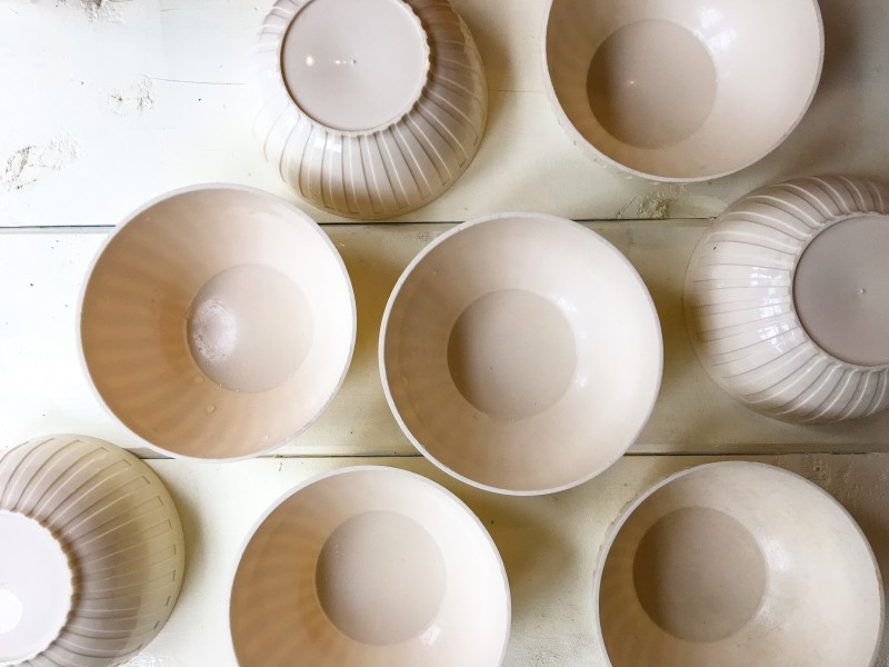 White Bowls from Goodwill BIns