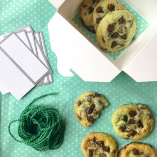 Holiday Cookies -- Dark Chocolate and Andes Mint Sugar Cookie