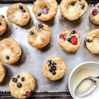 Berry Yogurt Muffins