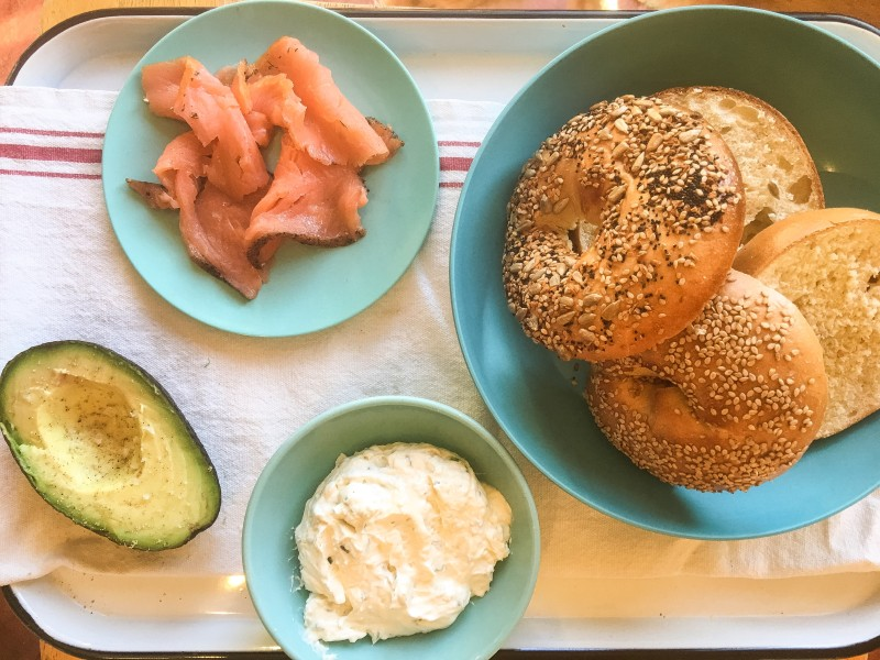 Bridgetown Bagels, Lox, Homemade Schmear