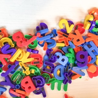 Magnetic letters, Portland Goodwill OUtlet Bins