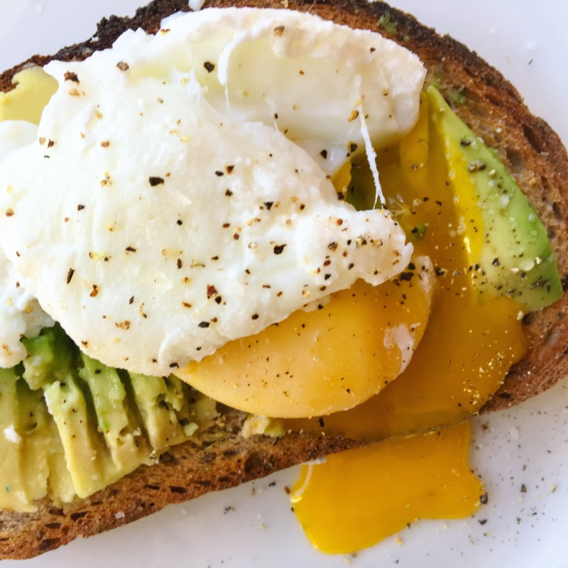 Egg, Avocado on Caraway Rye