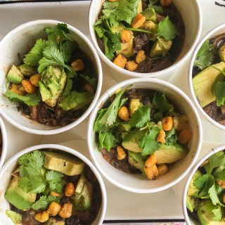 Black Bean Soup with Avocado and Corn Nuts Pay it forward Friday