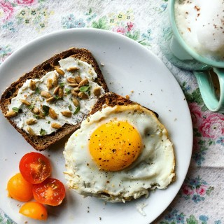 Fried Egg on Tabor Bread Toast