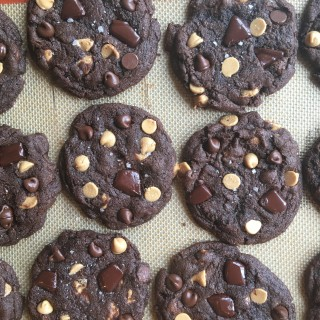 Dark Chocolate Peanut Butter Chip Cookies