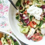 White Bean Salad with Tomatoes, Avocado, Cucumbers and Herbs