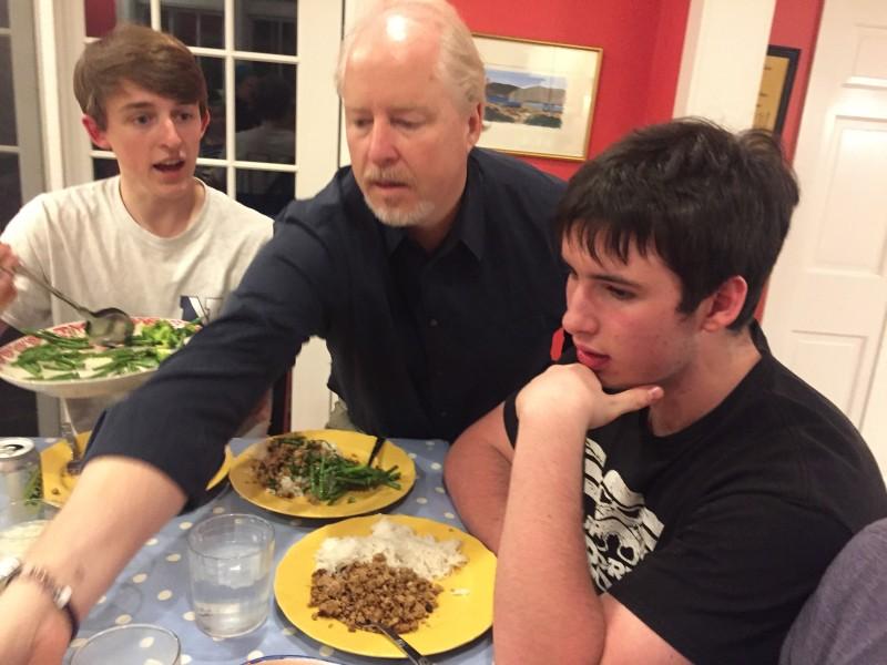 Christian and Boys Dinner