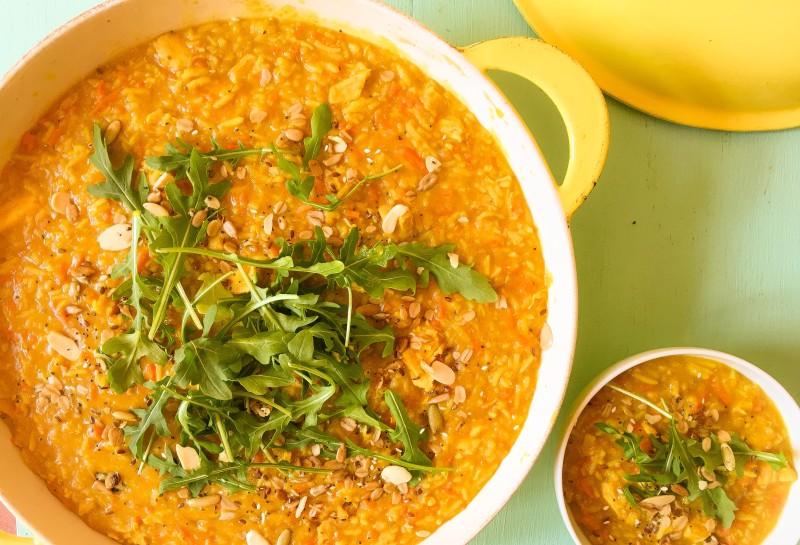 chicken and lentil dal soup