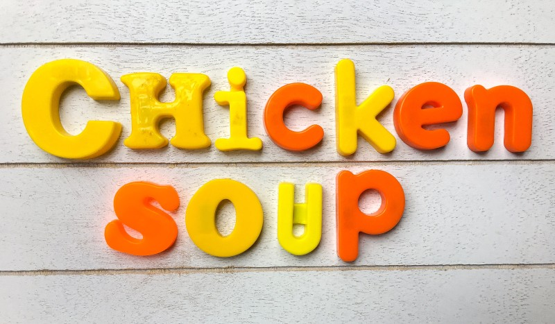 vintage letters chicken soup