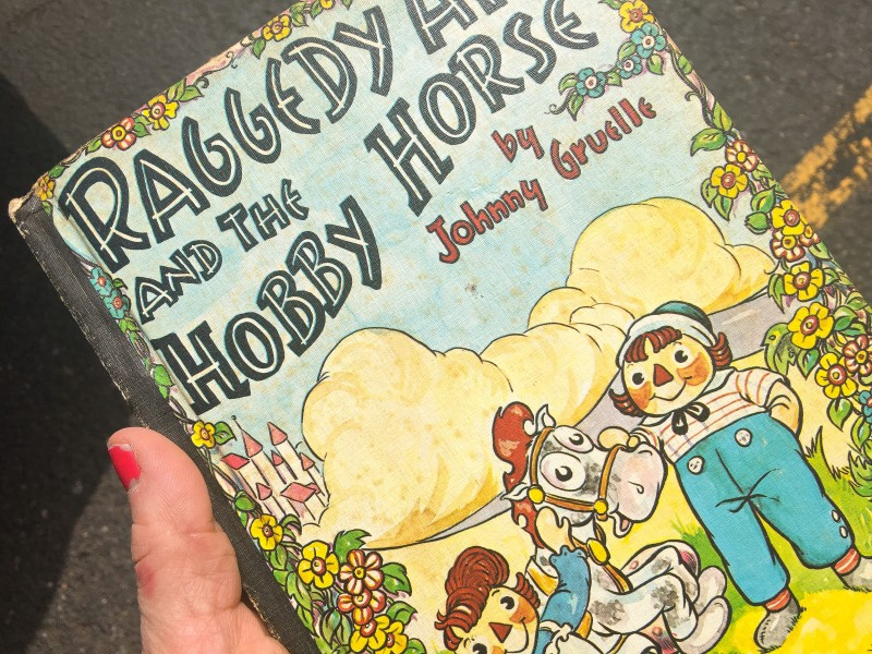 Vintage Raggedy Ann Book at Portland Goodwill Bins Outlet Bins Finds -