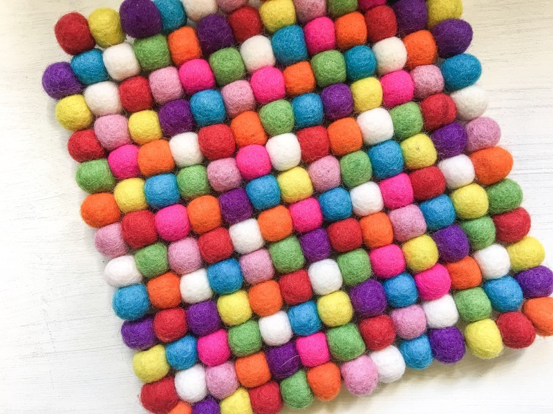 Pom Pom Trivet from Goodwill Bins