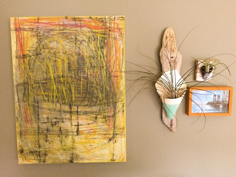 Chrissy's Goodwill Bin Finds Art wall