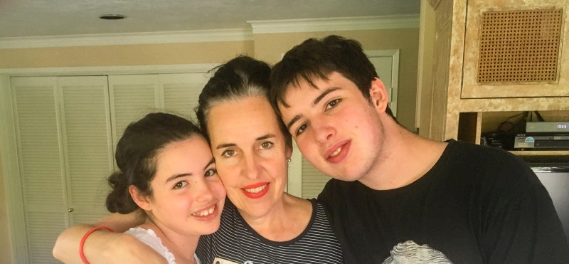 Oliver, Charlotte and me in LA
