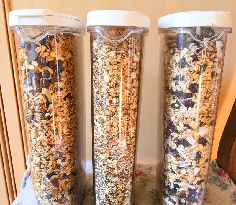 homemade granolas for trips
