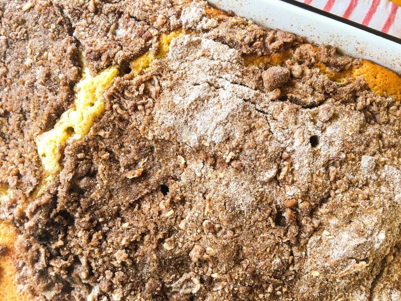 New York Style Cinnamon Crumb Coffee Cake