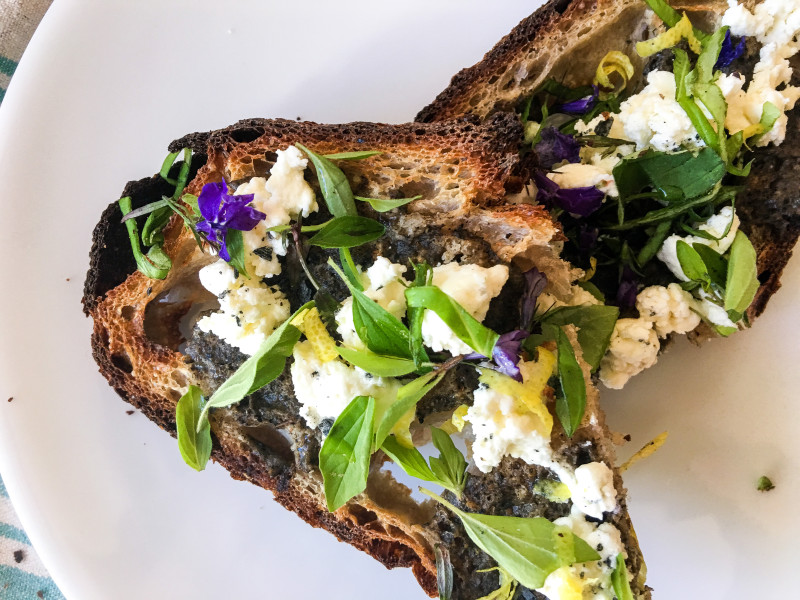 Eggplant Tartine from SF Bread
