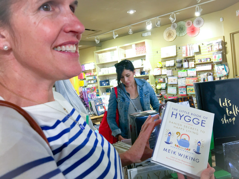 Polly shopping in SF, Hygge
