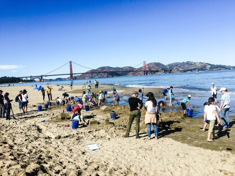 Castle Making COntest Crissy Field
