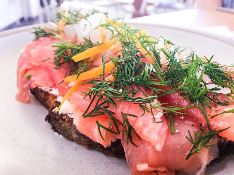 Salmon Tartine at Tartine Manufactory, SF