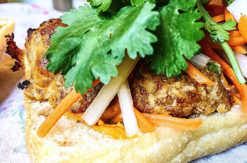 Lardo Pork Meatball Banh Mi Portland Cooks
