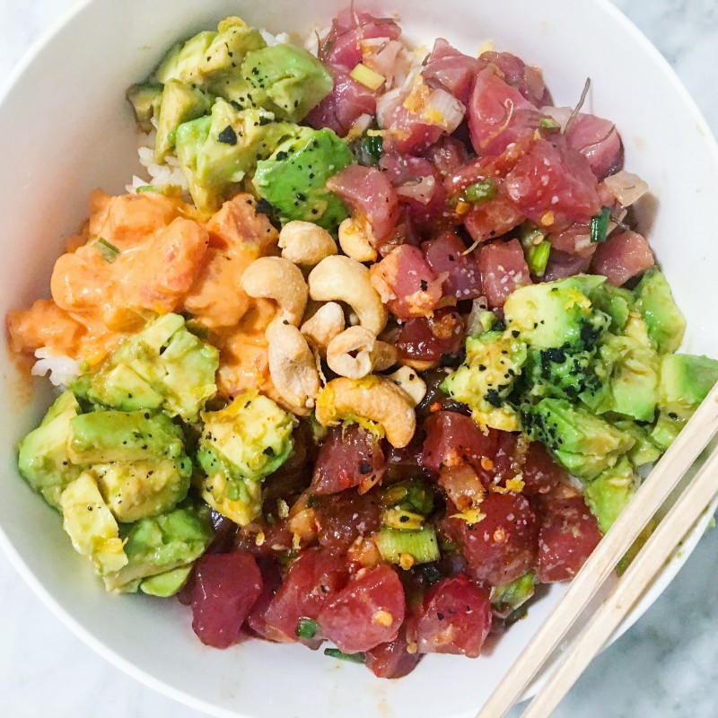 Tuna Poke with avocado