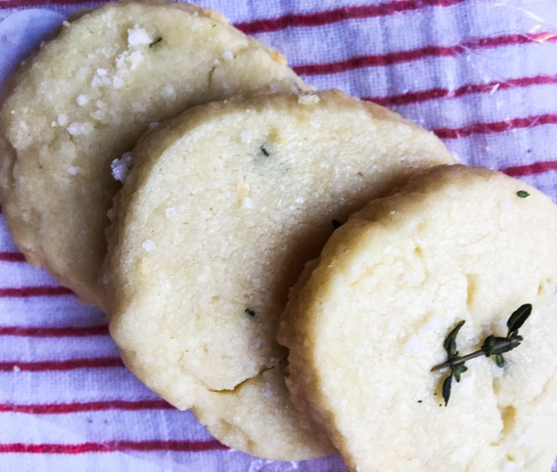 thyme shortbread holiday gift drop cloth sampler