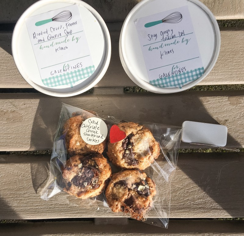soup and Valentine shortbread cookie delivery