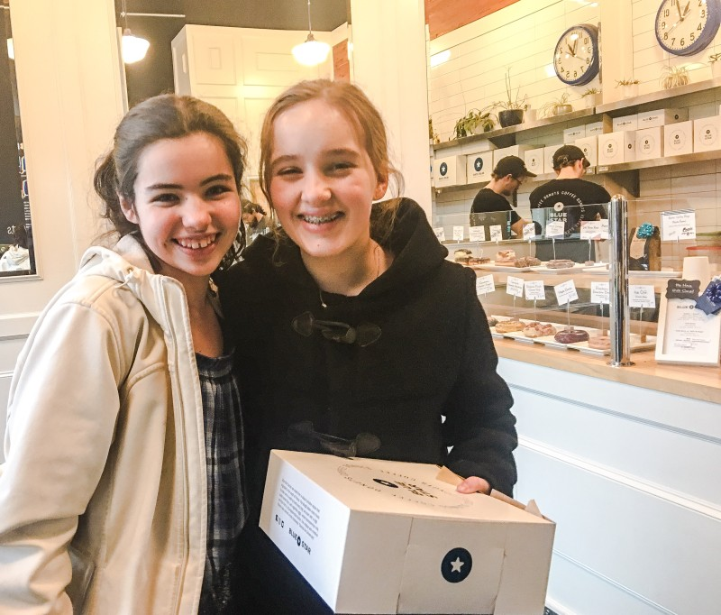Charlotte and Grace at Blue Star Donuts Portland