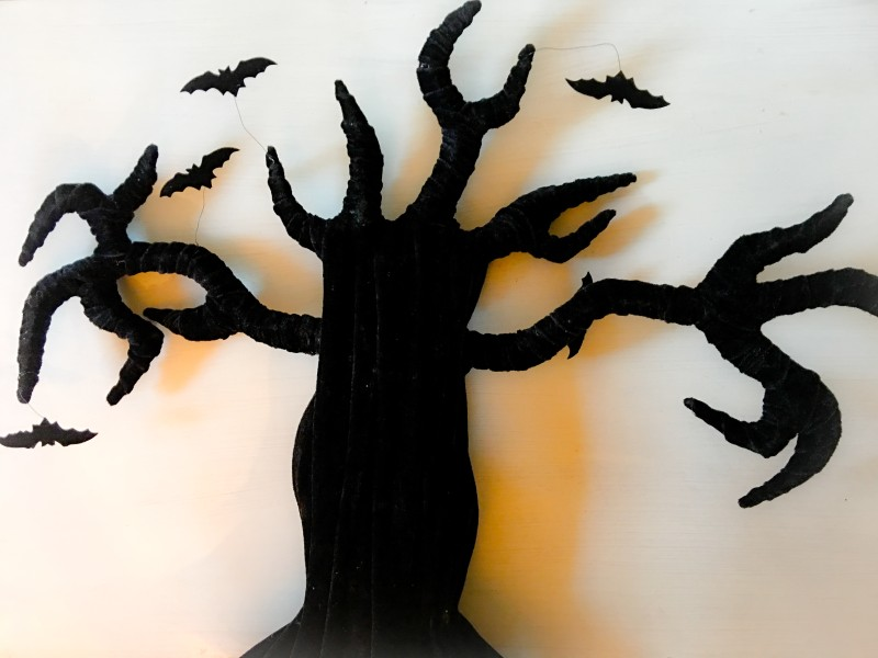 Goodwill Bins Black Velvet Tree Halloween