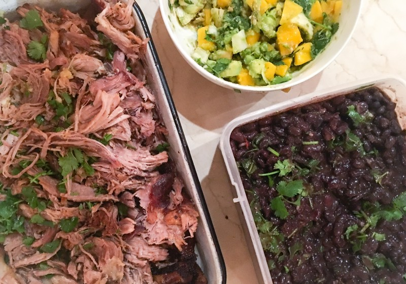 Pork, Black Beans, Mango Salsa, Cooking for a crowd