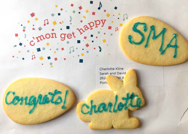 Charlotte SMA letter cookies