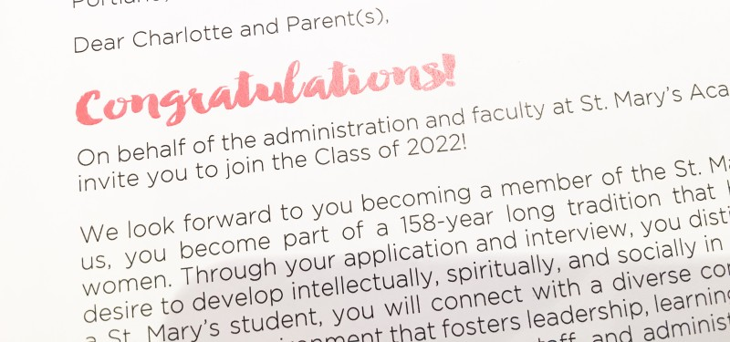 SMA welcome letter
