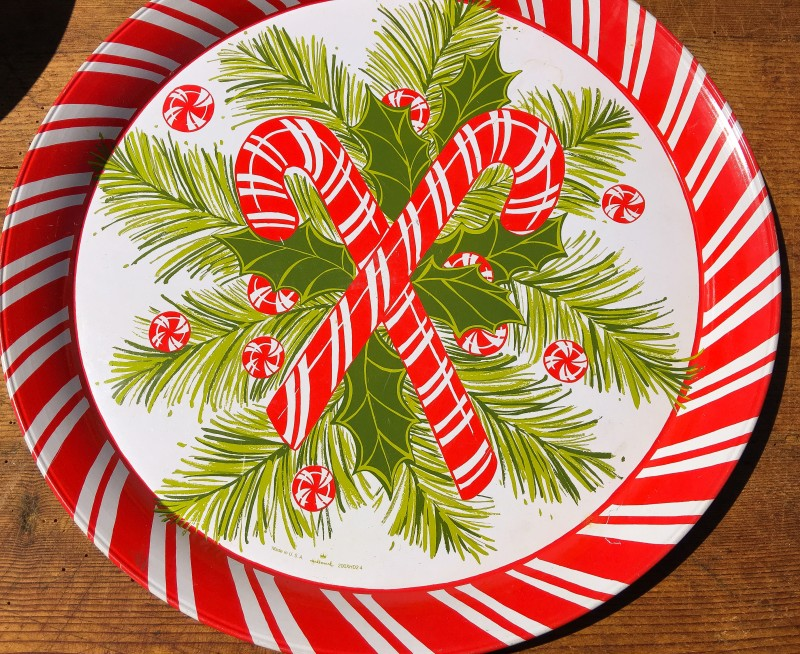 Goodwill Bins VIntage Candy Cane Tray