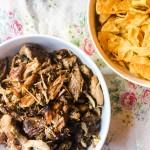 Roasted Instapot Pork and Juanitas Chips