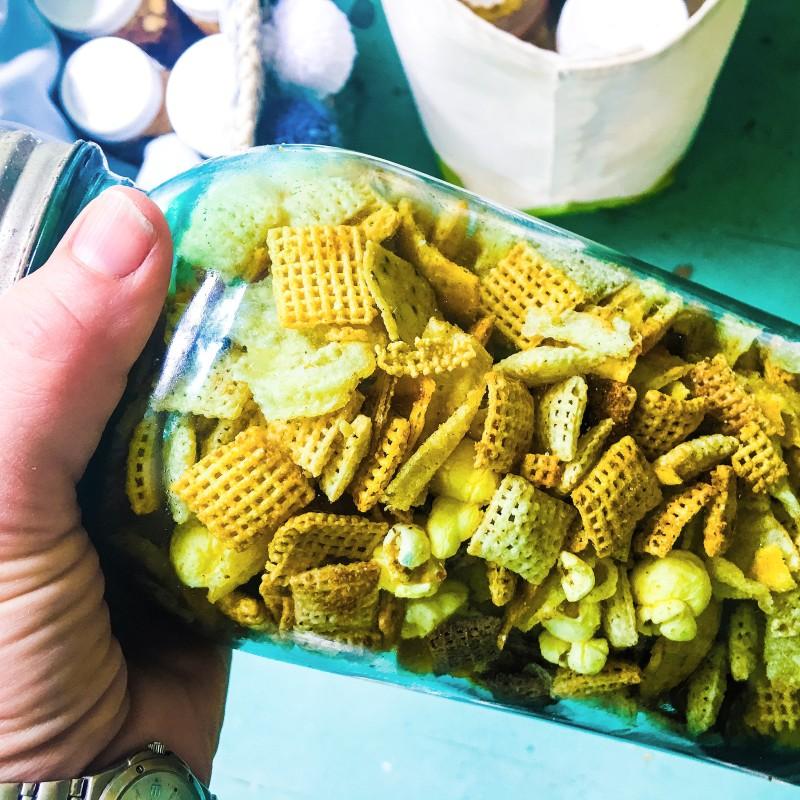 Snack Mix Blue Jar