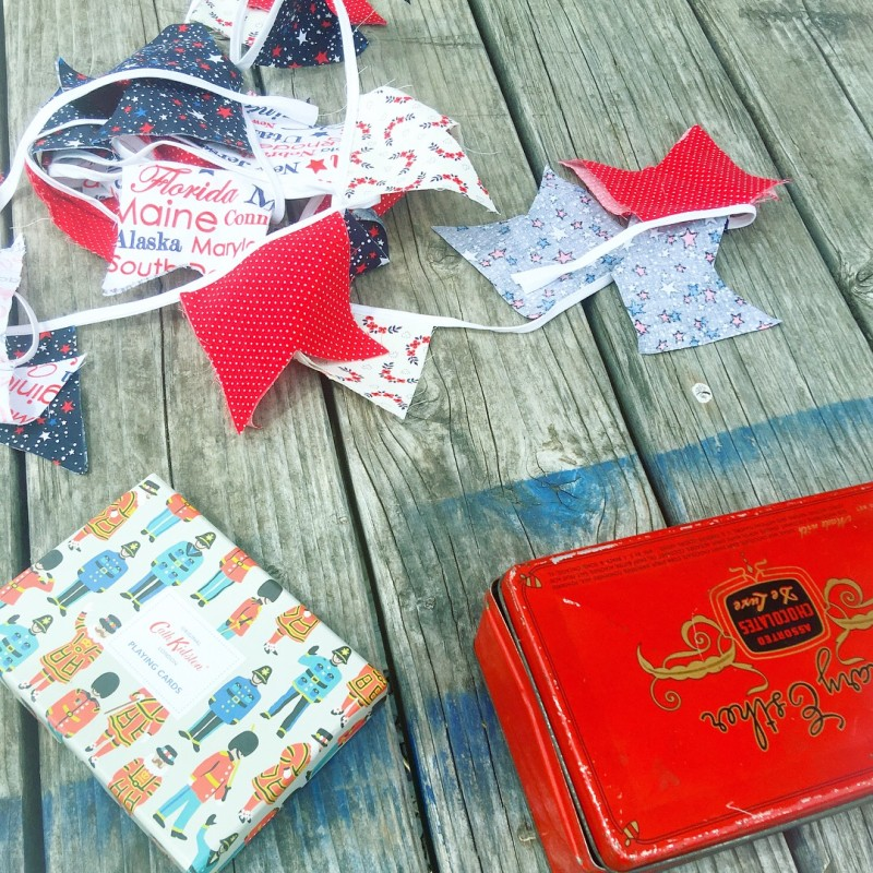 Sauvie Island cards, bunting,cookies