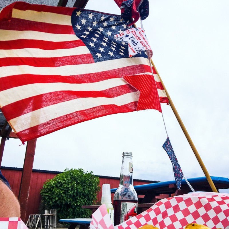 4th of July celebration, Sauvie, flag, picnic