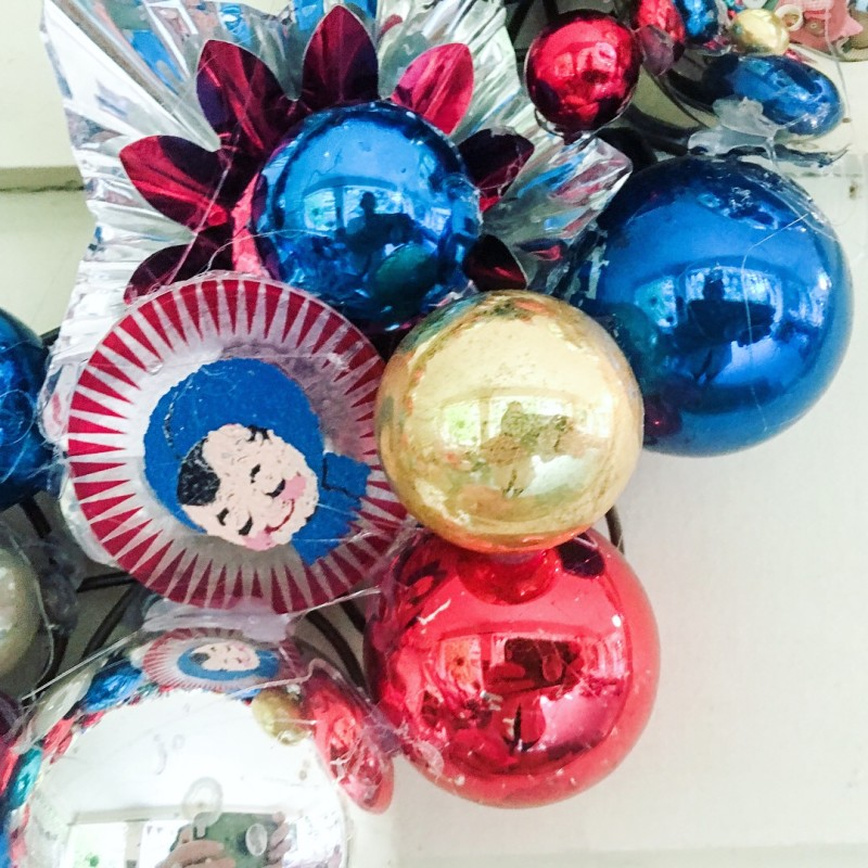 Ornament Wreath 4th of July Vintage Holiday