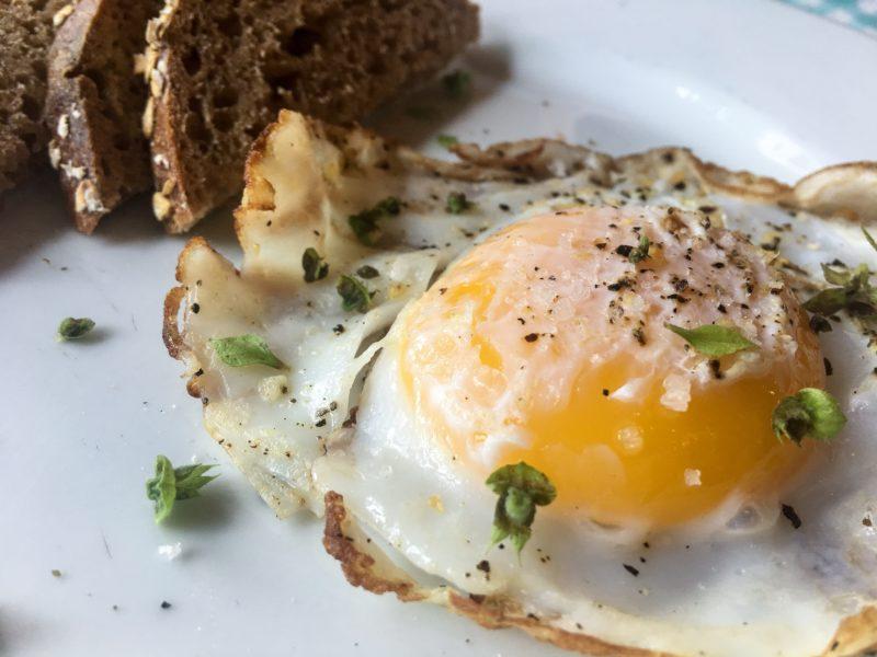 duck egg toast