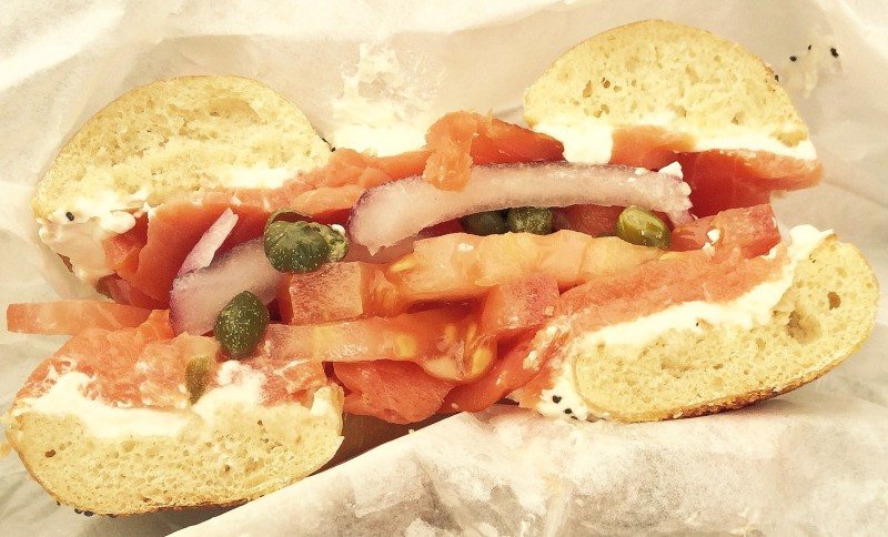 Best of Portland Cheap Eats - Henry Higgins Boiled Bagels (lox)
