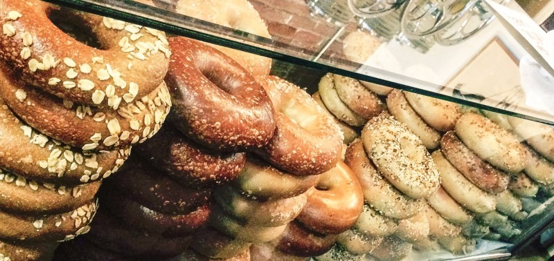 Best of Portland Cheap Eats - Henry Higgins Boiled Bagels, counter