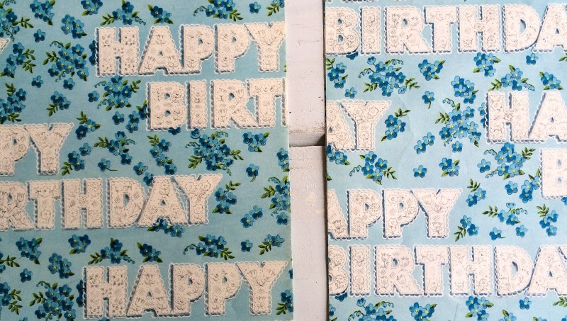 Happy Birthday Vintage Wrap