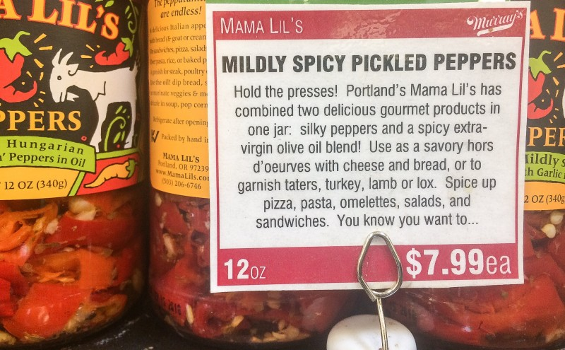 Mama Lil's Pickled Peppers, Portland Product