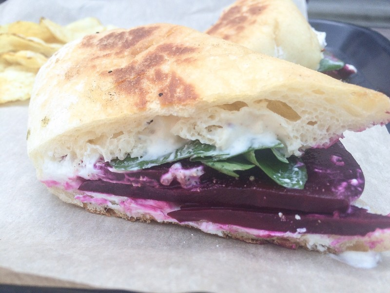 Chevre, Beet and Horseradish Sandwich @ Bunk, Portland