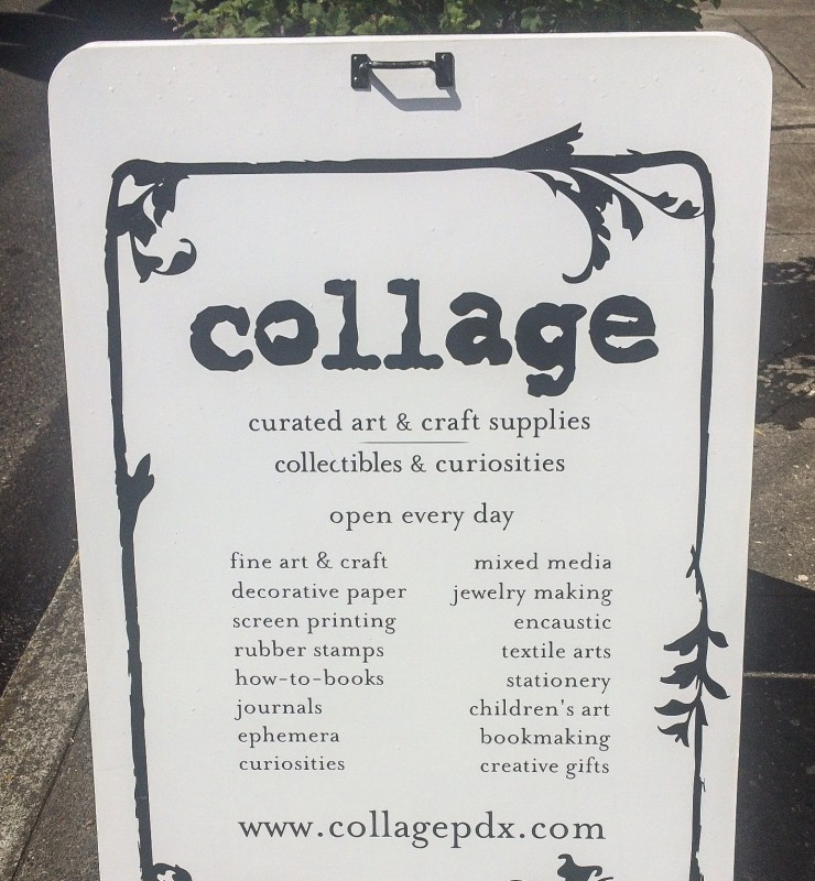 Collage Sign, Portland