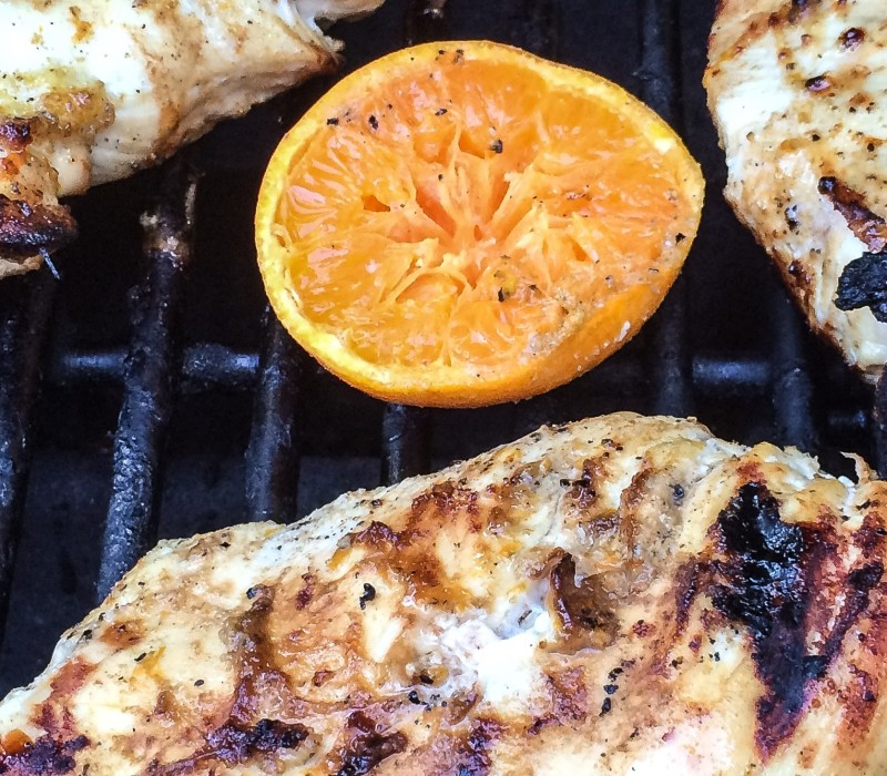 Chicken Breast with Tequila and Tangerine