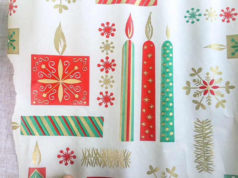Vintage Christmas Wrap From Portland Goodwill Bins