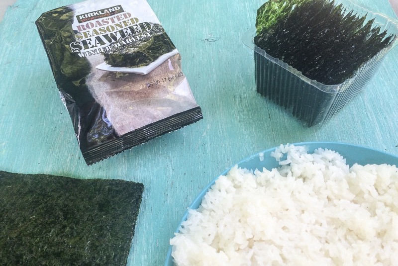 Ingredients for Homemade Sushi Rolls